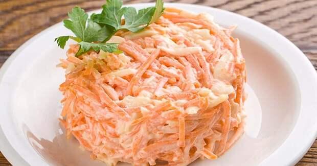Выручает уже который раз: «рыжий» салат, готовлю когда совсем нет времени(дёшево и сердито)