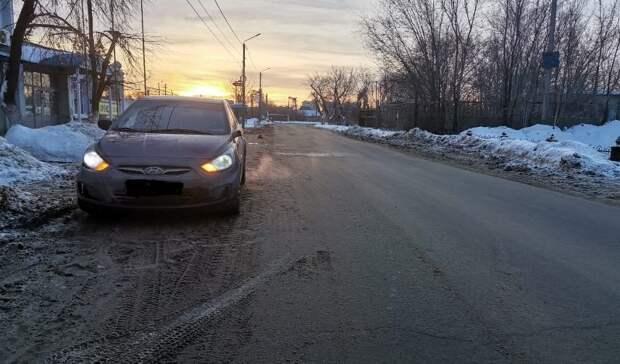 Жительница Оренбурга пострадала под колёсами Hyundai
