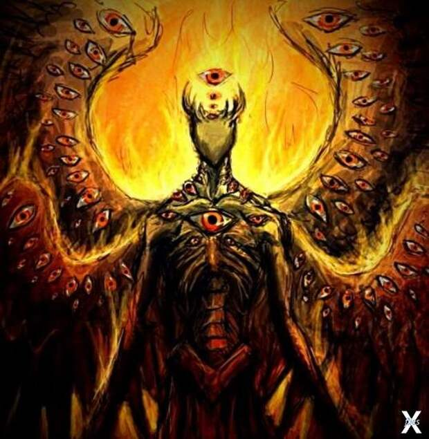 В Ветхом Завете ангелы описываются как безобразные существа с тысячами глаз