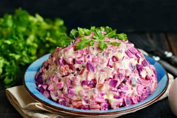 Салат «Росолье» — яркий и вкусный