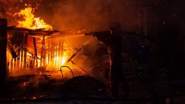 Трое дачников сгорели в строительном вагончике под Вологдой