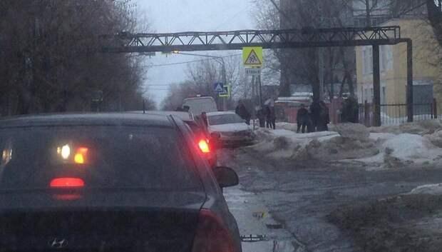 Водитель иномарки протаранил встречный автомобиль на Плещеевской улице
