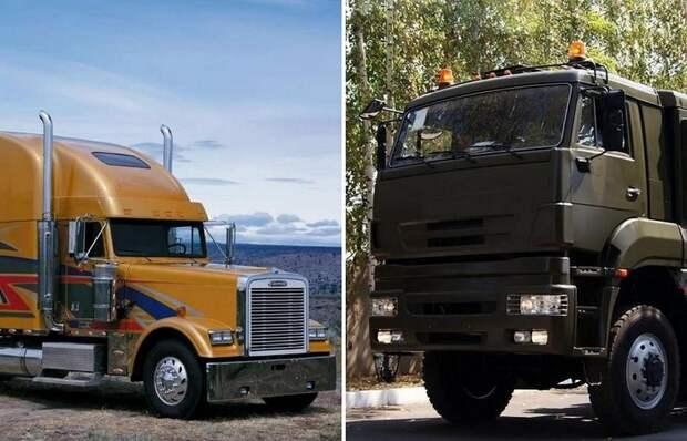 Почему у большинства американских тягачей длинный «нос», в то время как у наших грузовиков он плоский