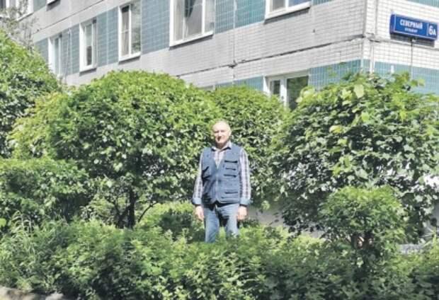 Житель Отрадного на месте пустыря создал цветущий сад