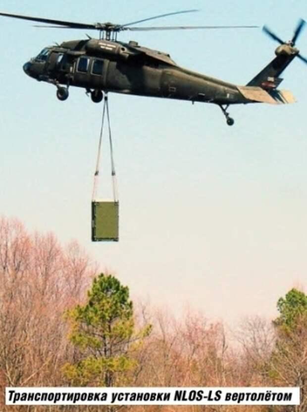 Транспортировка установки NLOS-LS вертолётом