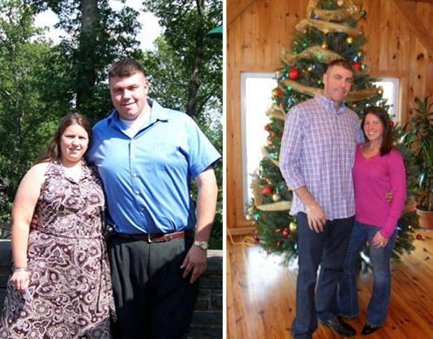 Мишель и Алекс проделали отличную работу! диета, лишний вес, похудение