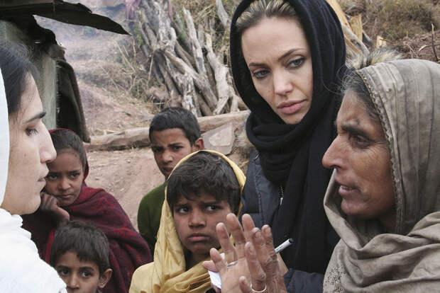 Анджелина Джоли в Индии