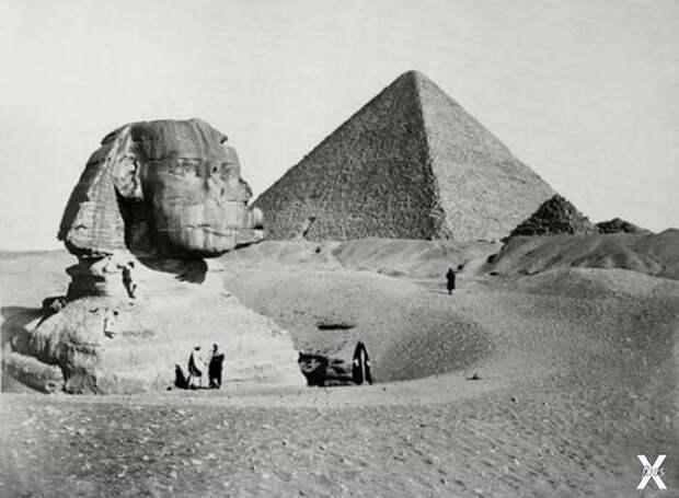 Раскопки Сфинкса, 1860 год