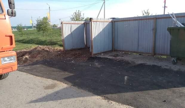 После обращения кгубернатору вЗаводоуковске очистили контейнерную площадку