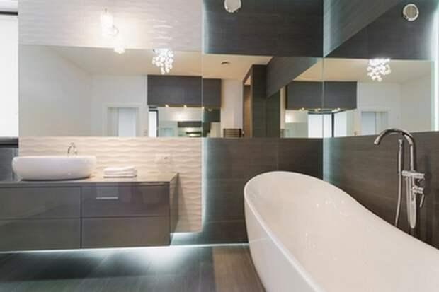 трехмерная плитка в ванной