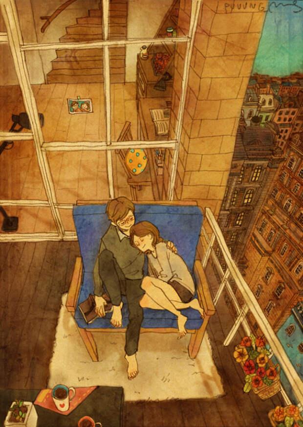 Любовь - это ценить время, проведенное вместе.
