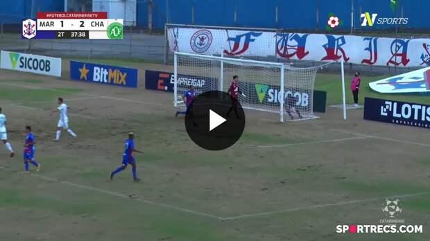 De pênalti, Zé Vitor empata para o Marcílio Dias contra a Chapecoense - Campeonato Catarinense (18/04/2021)