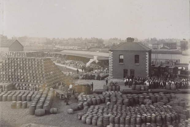 """Так выглядел двор """"Пивоварни у ворот Святого Джеймса"""" в начале XX века"""