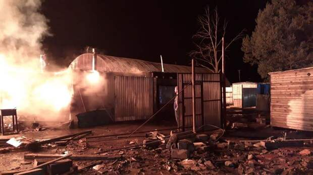 Пожар на складе в Подмосковье локализован