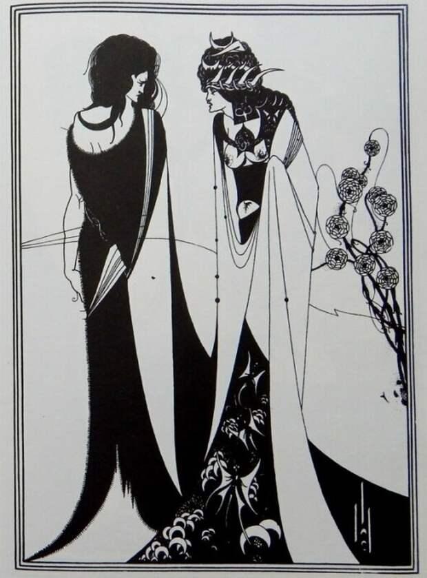 Иллюстрация к пьесе О.Уайльда «Саломея»: Иоанн Креститель и Саломея. \ Фото: livejournal.com.
