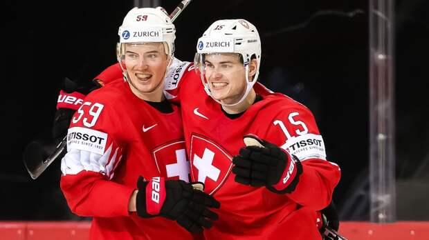 Швейцария разгромила Словакию в матче чемпионата мира, забросив восемь шайб