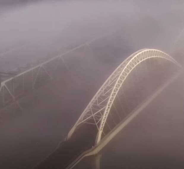 «Столица туманов»: фотограф заснял рассвет в Нижнем Новгороде с высоты птичьего полета