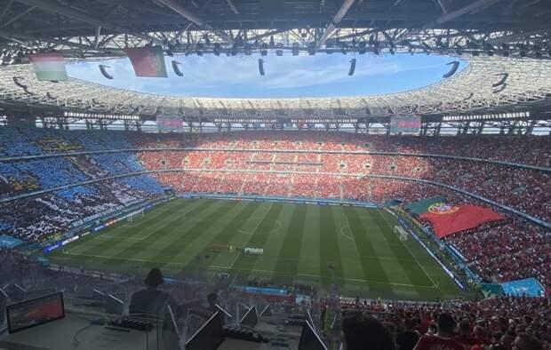 Невероятно для 2021 года. В Будапеште почти аншлаг на матче Венгрия – Португалия. Фото
