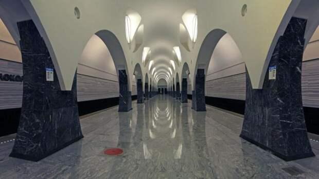 Выход № 1 станции метро «Волоколамская» на северо-западе столицы временно закрыт