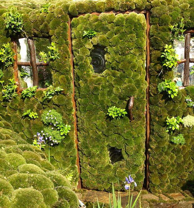 Дивная зеленая дверь.