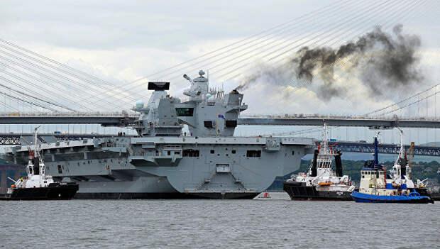 """В Минобороны назвали новый британский авианосец """"удобной морской целью"""""""