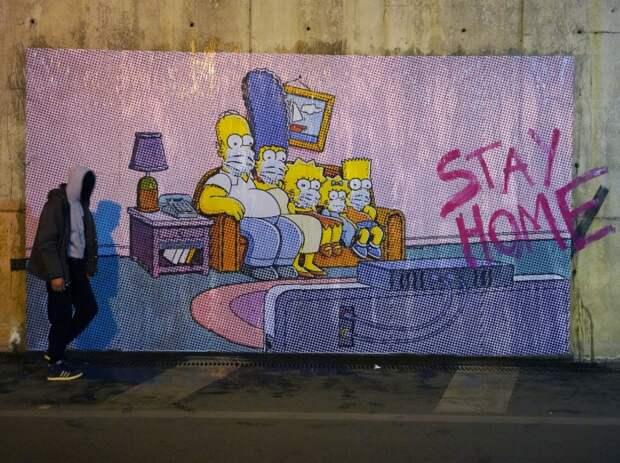 коронавирусное граффити