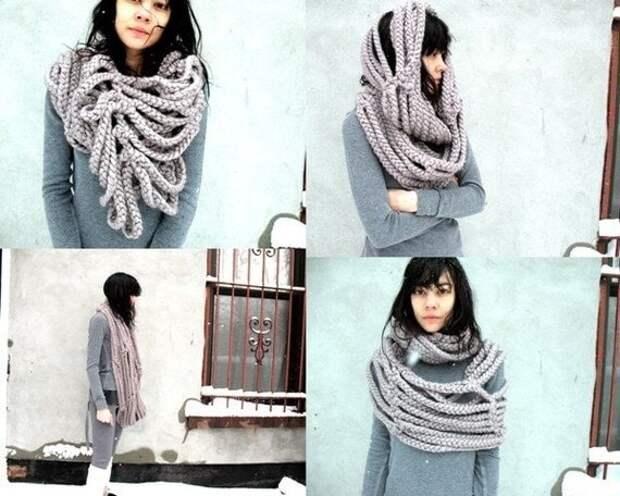 Оригинальные шарфы — стильное и согревающее дополнение к образу