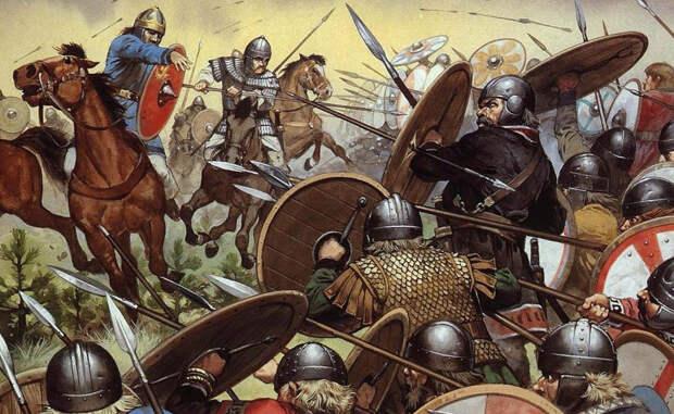 Адрианопольская битва Доведенные до отчаяния варвары устремились на завоевание восточной столицы империи, Константинополя. На встречу захватчикам римляне выдвинули свое войско, во главе которого стал император Валент. В 378 году противники столкнулись под Адрианополем: племена вестготов устроили римлянам такую резню, что от этой битвы империя уже не оправилась. В схватке погиб и сам император.
