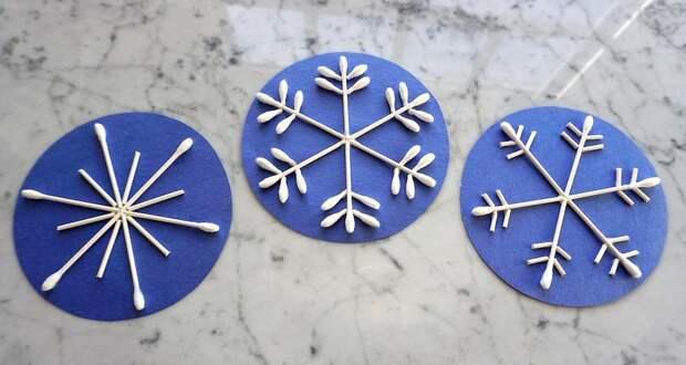 Оригинальные идеи создания снежинок из разных материалов