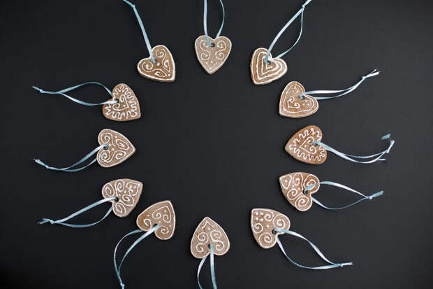 К 14 февраля: медовые пряники-валентинки