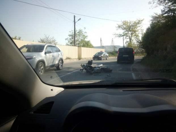 В Севастополе на «серпантине» сбили мотоциклиста (ФОТО)
