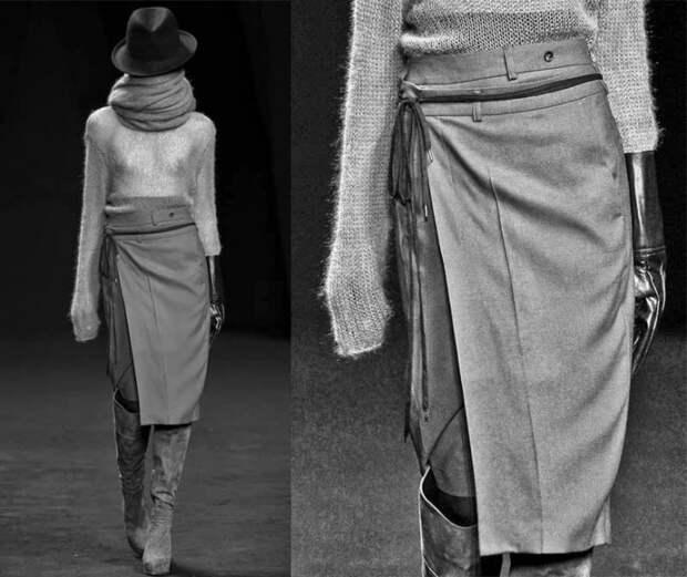 юбки из мужских брюк