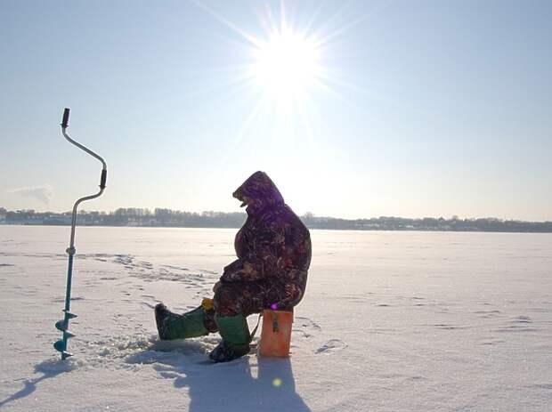 Крупная рыба в сильный мороз