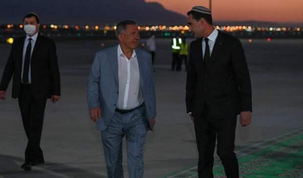 Минниханов улетел вТуркменистан