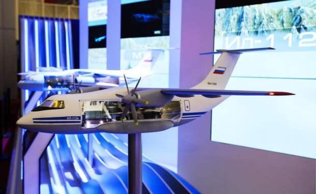 Макет самолета Ил-112В на стенде Объединенной авиастроительной корпорации