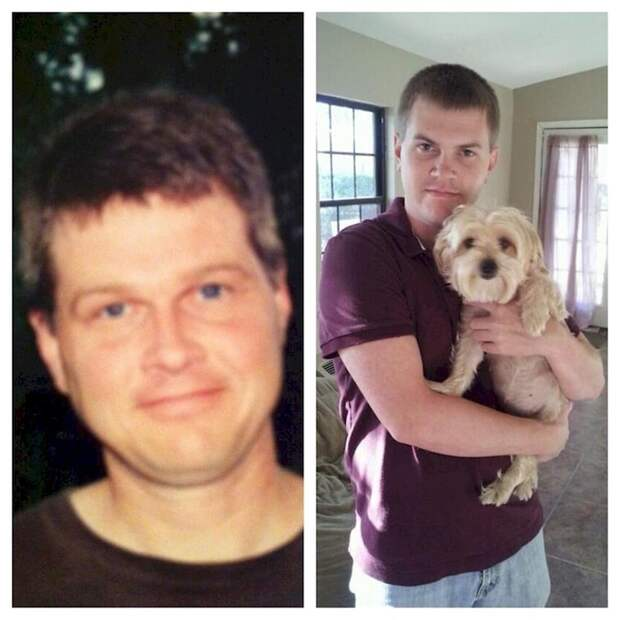 17. Отец (слева) и сын (справа) в 25-летнем возрасте. отцы и дети, прикол, фото