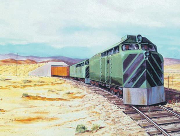 Для боевого железнодорожного комплекса с ракетой «Пискипер» планировалось построить защищенные от ядерного удара укрытия. Иллюстрация с сайта www.fas.org