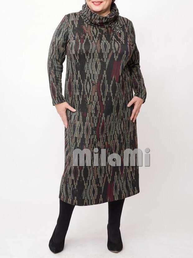 Фото 3 -  трикотажный жаккард платье - MilaMi