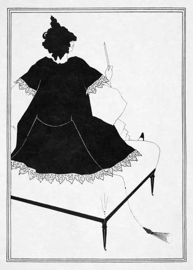 Иллюстрация к пьесе О.Уайльда «Саломея»: Саломея дирижирует оркестром, сидя на кушетке. \ Фото: arthistoryproject.com.
