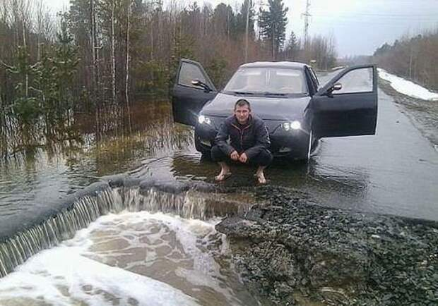 Страшный сон россиянина - весна весна, дороги, россия