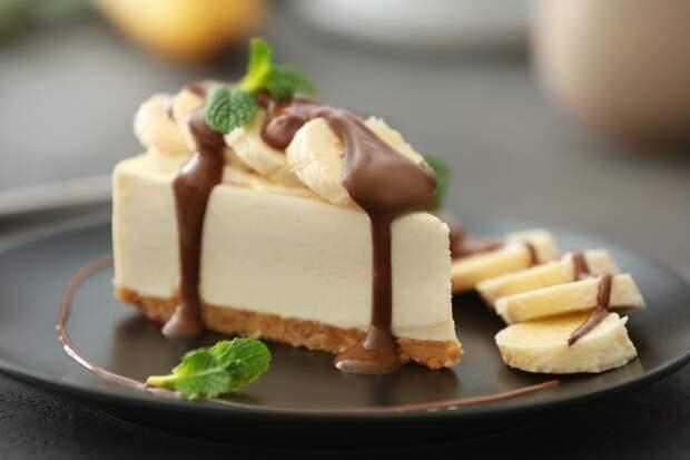 Десерт дня: банановый чизкейк без выпечки