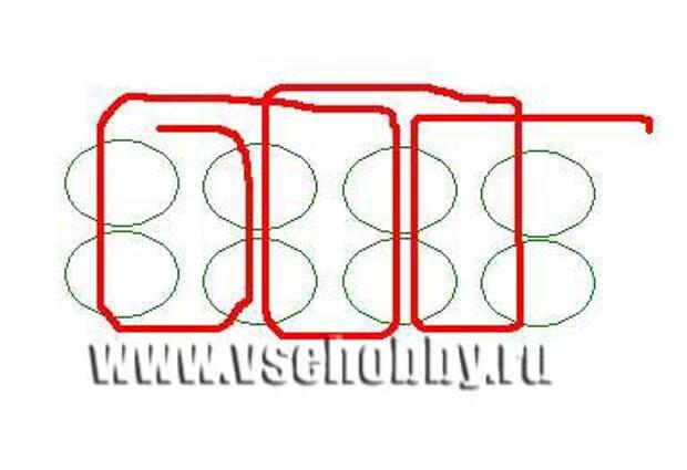 Схема к колье из бисера 'Листочки' своими руками