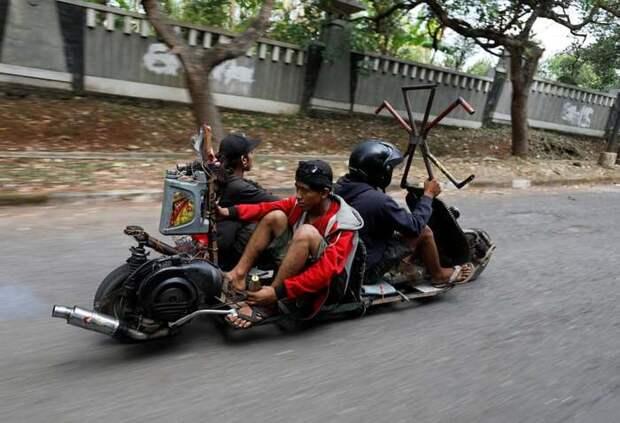 Индонезийские Веспы — самые безумные мотоциклы в мире Веспа, Движение, Мотоциклисты-Фрики, Индонезия, Длиннопост