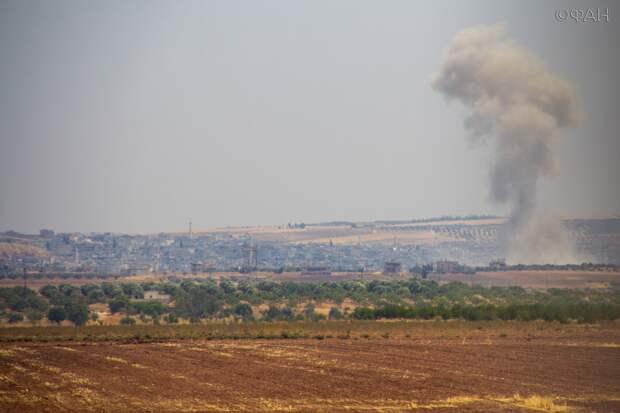 САА наносит удары по позициям боевиков в Идлибе