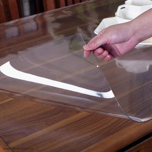 """фото из свободного источника интернета """"Мягкое стекло"""" для стола"""