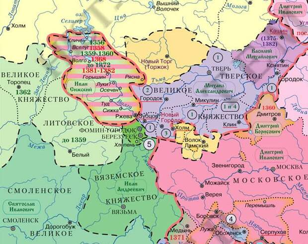 Борьба за Ржев между Литвой и Москвой в XIVв.