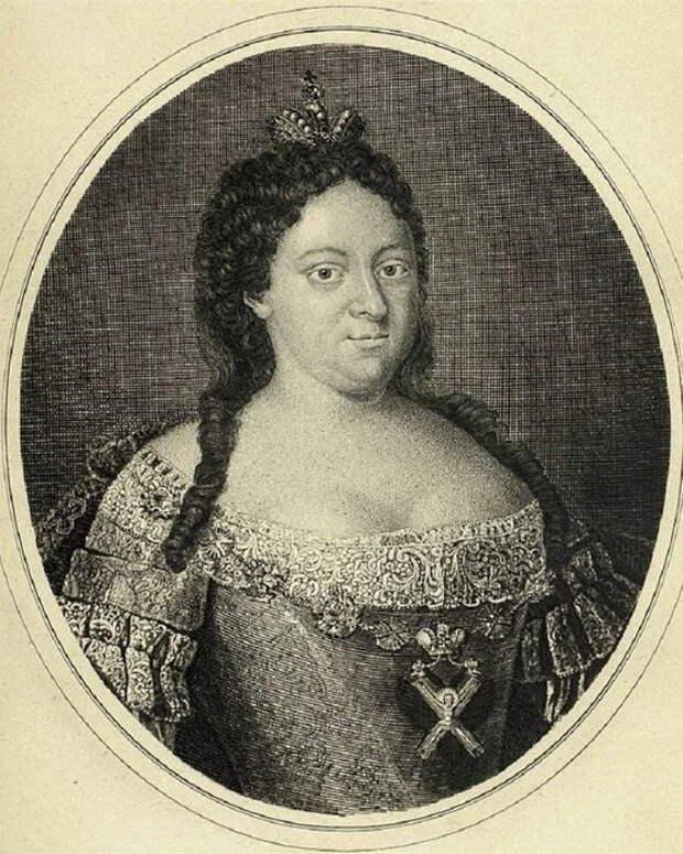 Иван Соколов, Анна Иоанновна, гравюра, 1740 г.