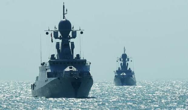 Россия начала военные учения в Средиземном море