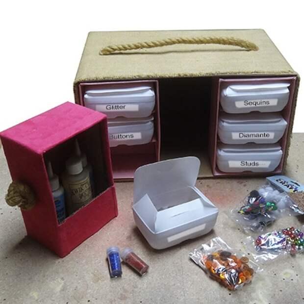 Коробки, оставшиеся после разных вещей, ещё могут послужить с пользой