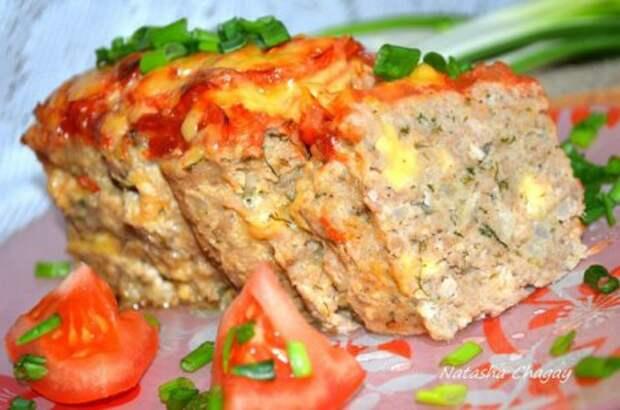 Мясной хлебец с сыром. »